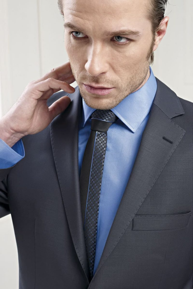 ▶▶Средне-серый мужской свадебный костюм с рубашкой приглушенного голубого оттенка ☎ +7 495 724 26 05 ▶▶ Свадебный центр Вега Ⓜ Петровско-Разумовская