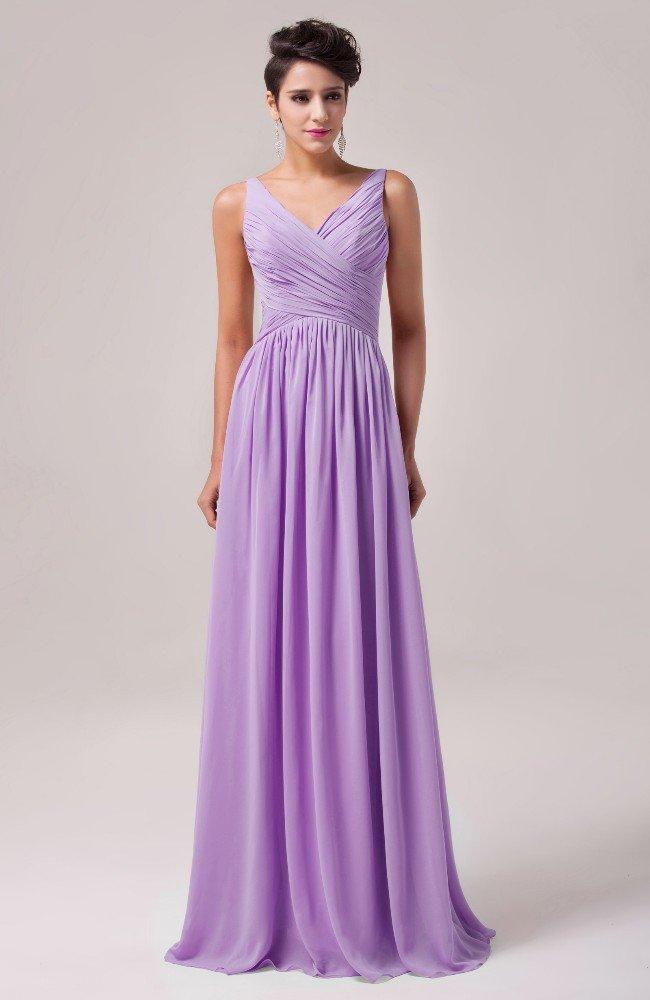Лавандовое вечернее платье прямого кроя с отделкой драпировками.