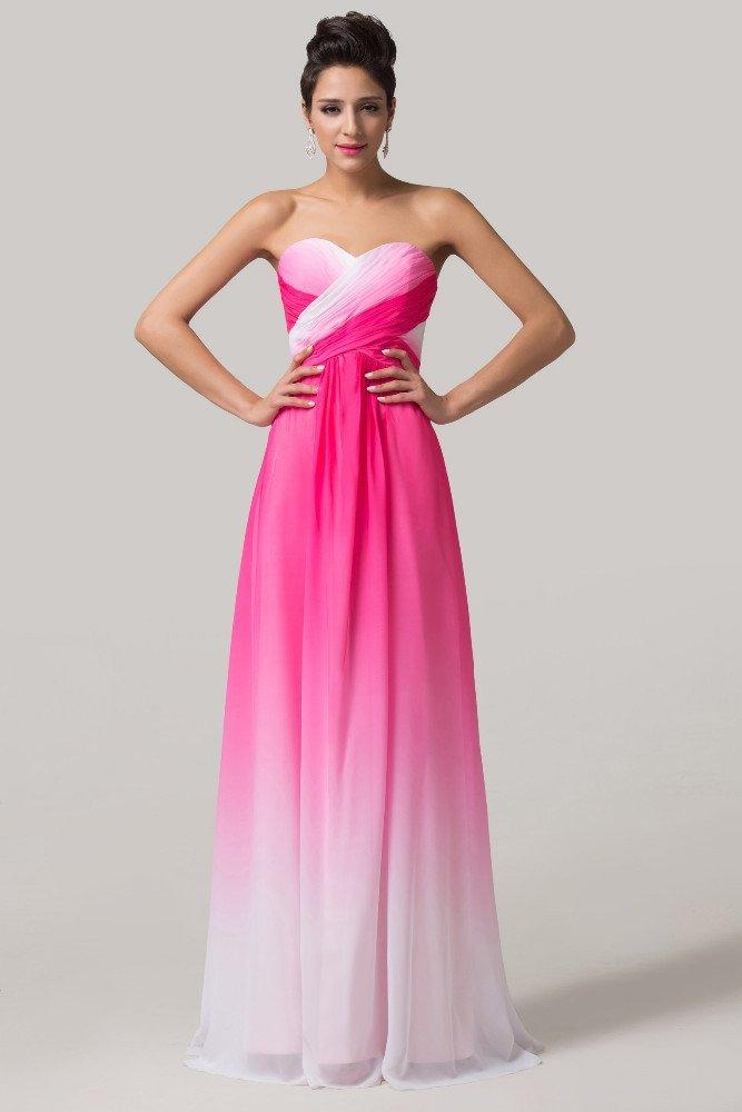 Эффектное вечернее платье прямого кроя в розово-белых тонах.