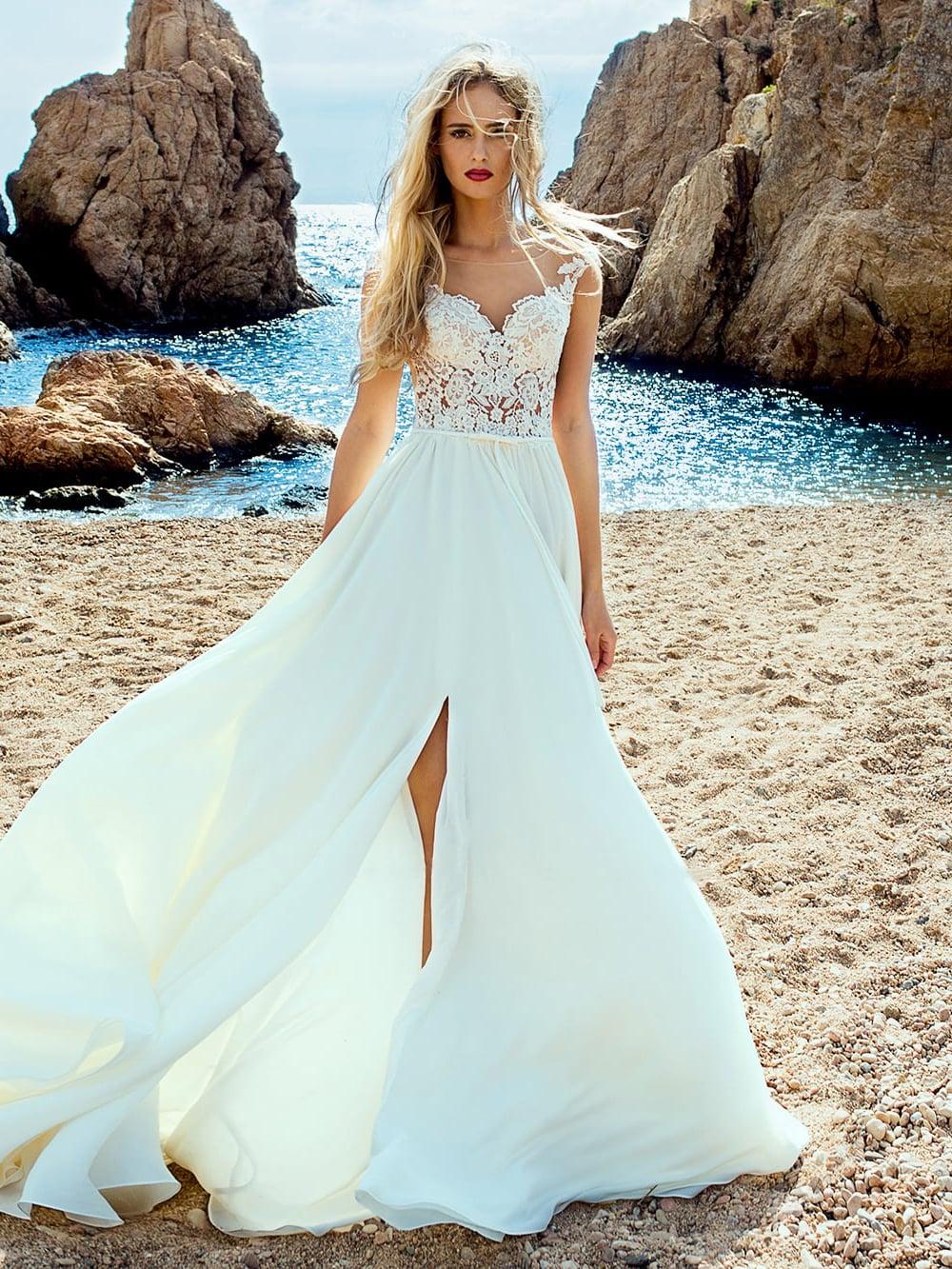 Платья для свадьбы на море фото