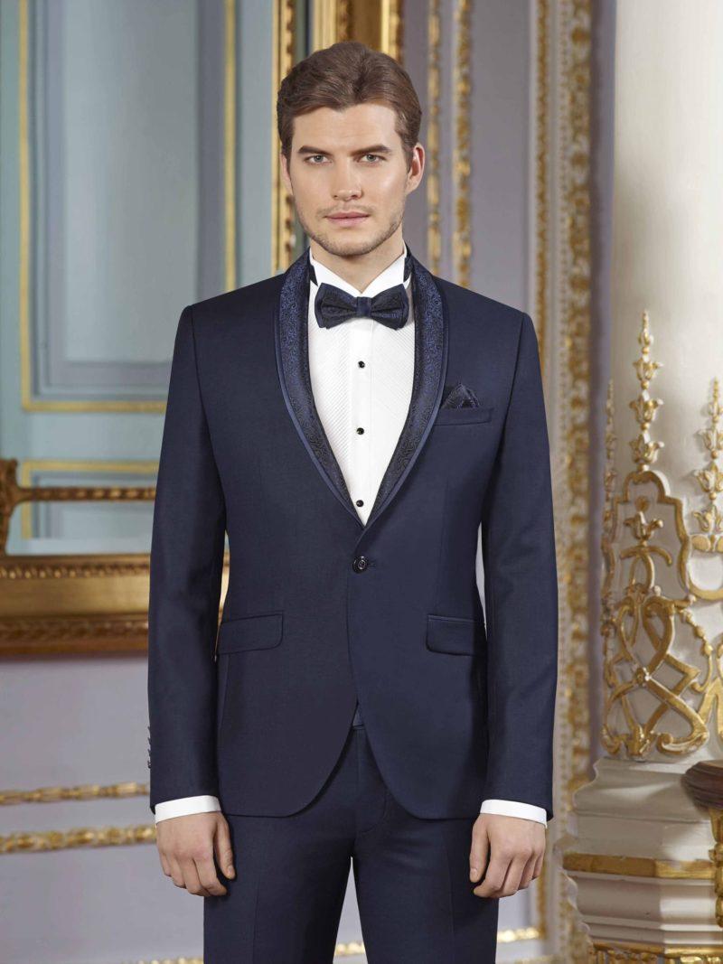 ▶▶Темно-синий свадебный мужской костюм с глянцевой отделкой. ☎ +7 495 724 26 05 ▶▶ Свадебный центр Вега Ⓜ Петровско-Разумовская