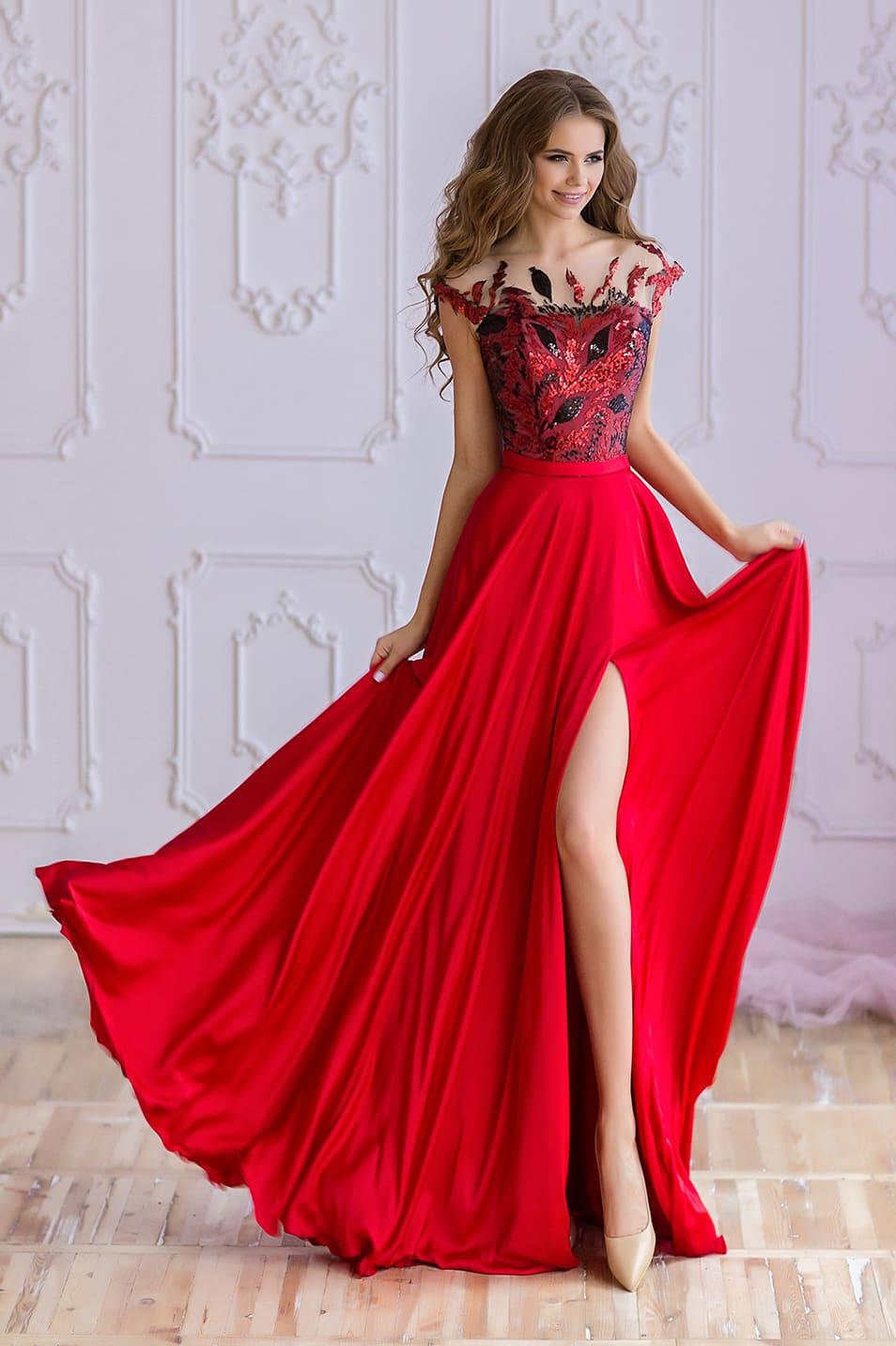 870198abf29f Красное красивое платье Valentina Gladun Sheik ▷ Свадебный Торговый ...