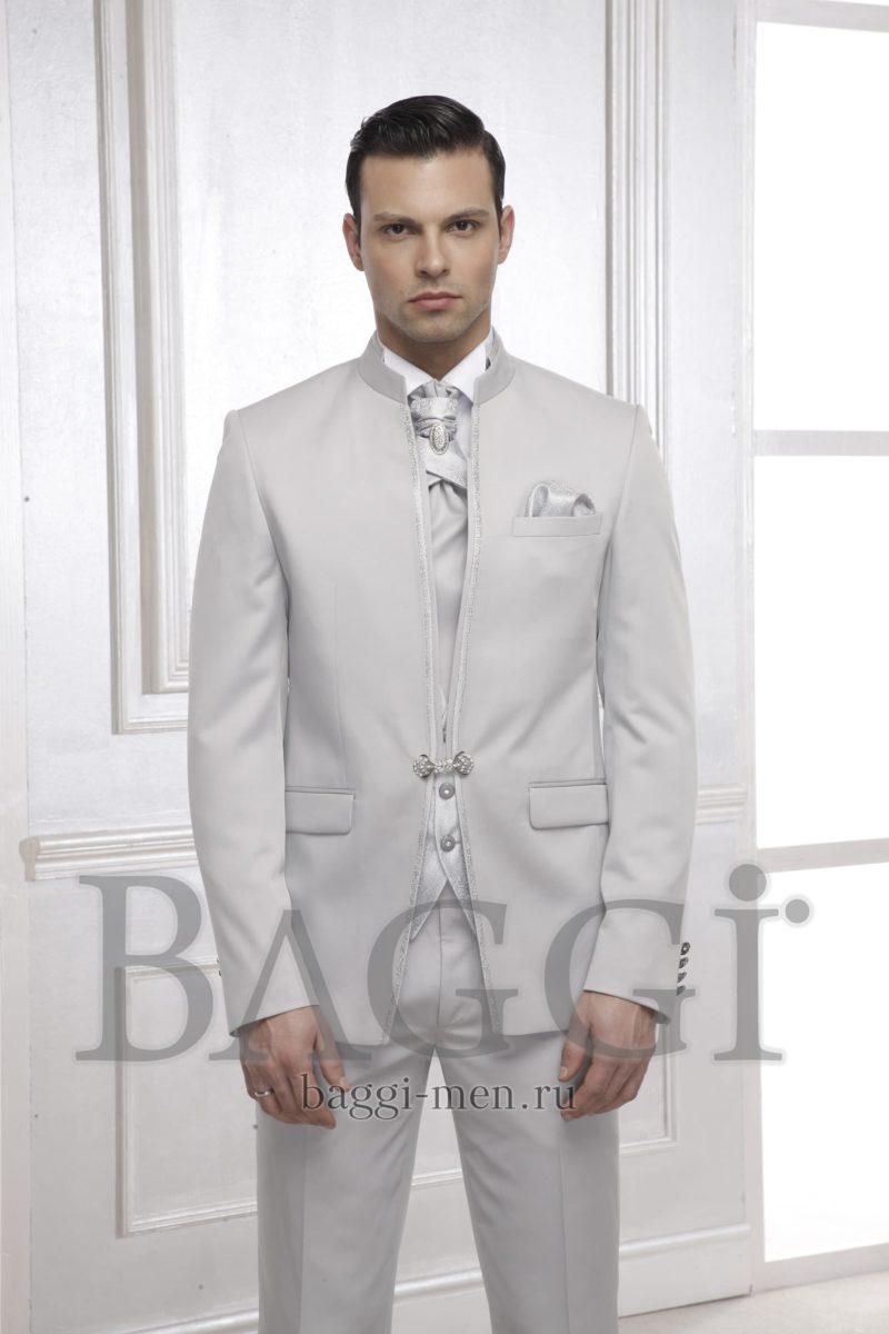 ▶▶Дымчато-серый мужской свадебный костюм-тройка с галстуком и белоснежной сорочкой ☎ +7 495 724 26 05 ▶▶ Свадебный центр Вега Ⓜ Петровско-Разумовская