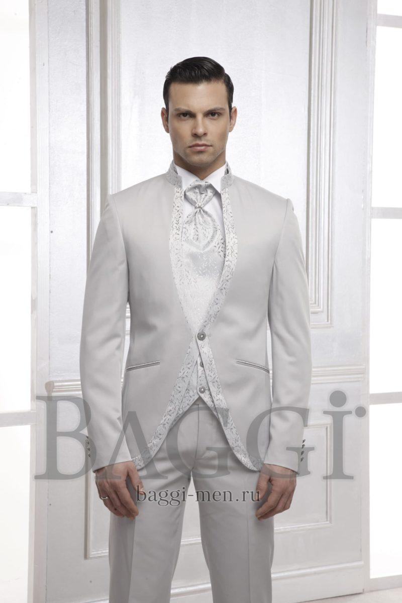 ▶▶Жемчужно-серый мужской свадебный костюм с жилетом и белой сорочкой ☎ +7 495 724 26 05 ▶▶ Свадебный центр Вега Ⓜ Петровско-Разумовская