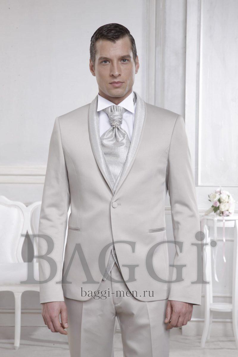 ▶▶Дымчато-белый мужской костюм со смокингом на одной пуговице и галстуком в тон ☎ +7 495 724 26 05 ▶▶ Свадебный центр Вега Ⓜ Петровско-Разумовская