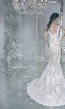 Романтичное свадебное платье «рыбка»