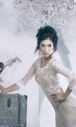 свадебное платье с силуэтом «рыбка»