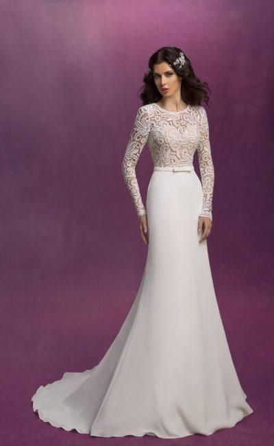 Сдержанное свадебное платье «русалка»