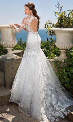Закрытое свадебное платье «русалка»