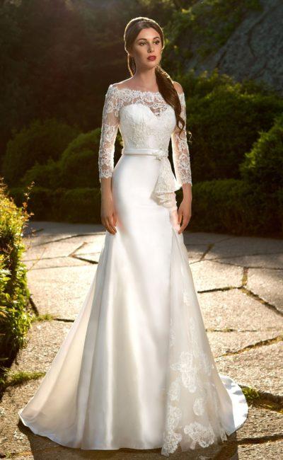 Сияющее свадебное платье «рыбка»