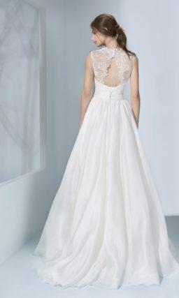 Элегантное свадебное платье из шифона