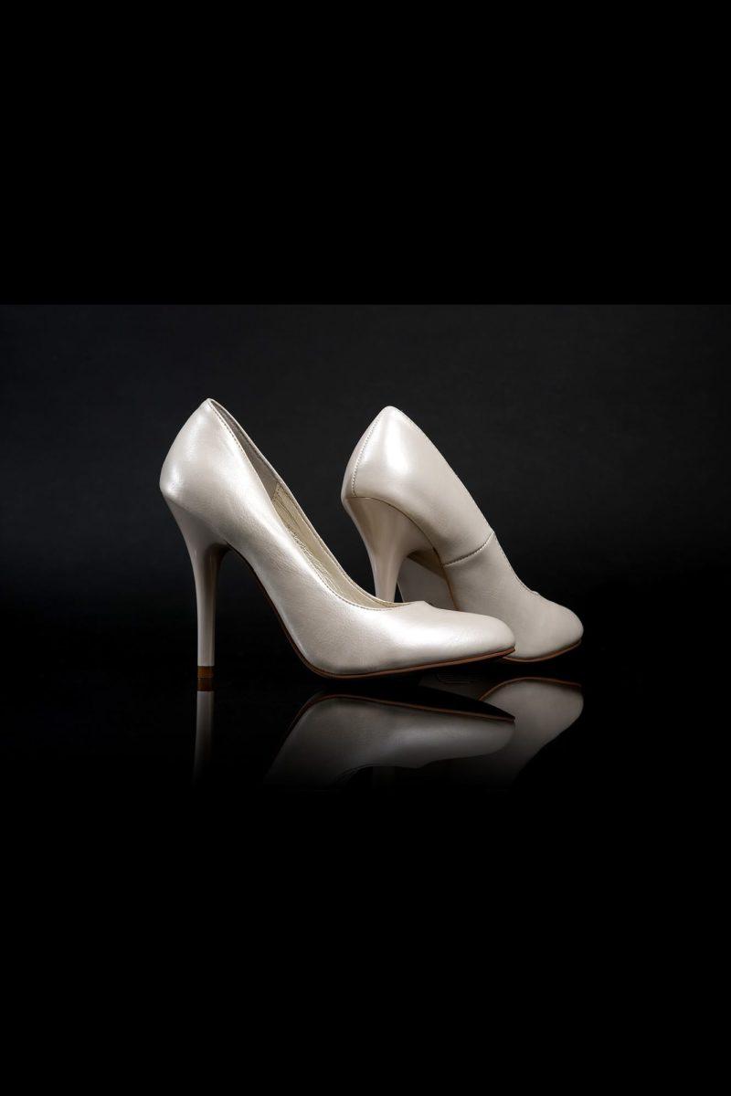 Туфли кожаные с мягким глянцевым блеском