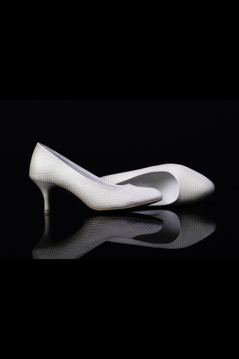 Туфли кожаные с оригинальной фактурой