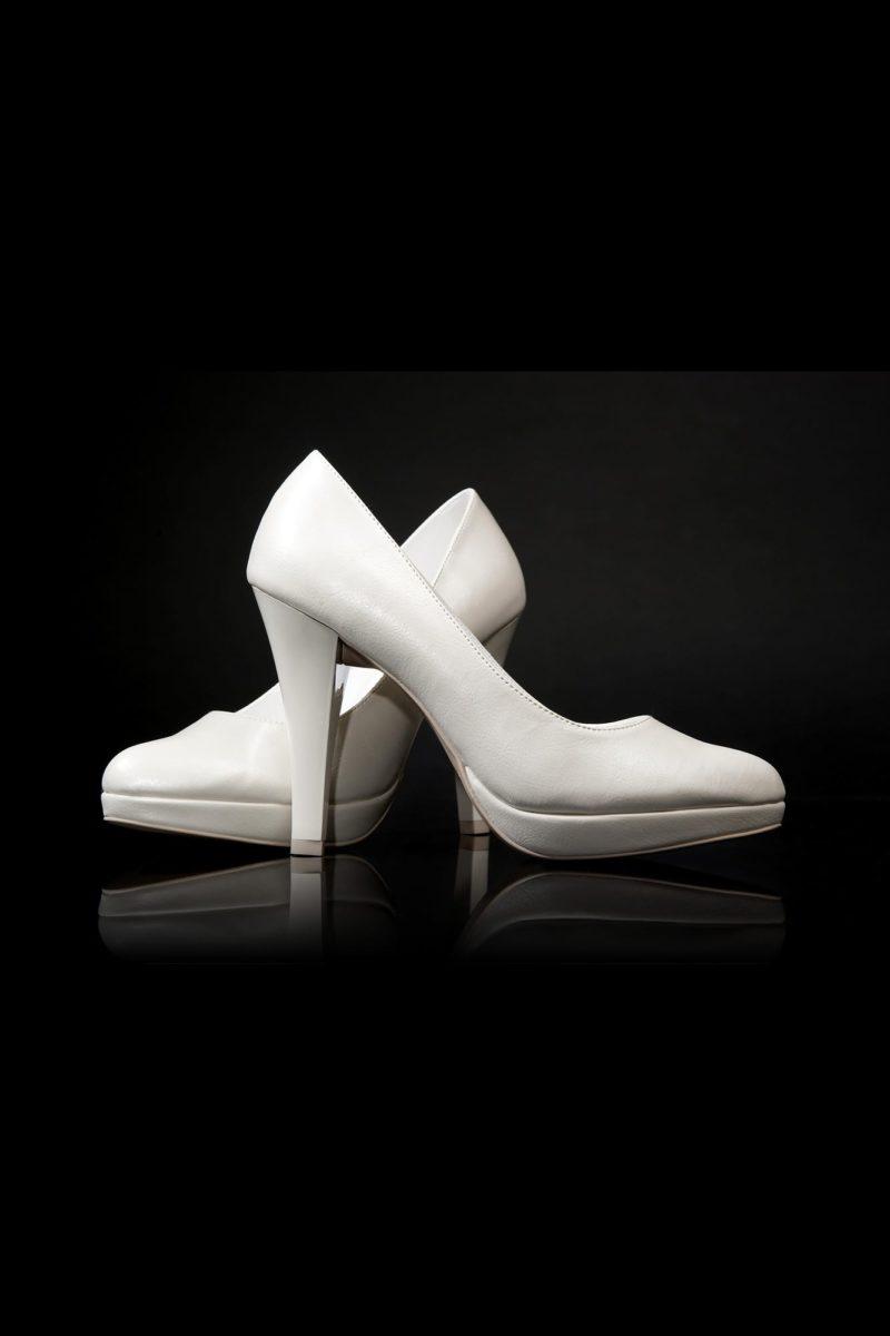 Туфли кожаные со скрытой платформой