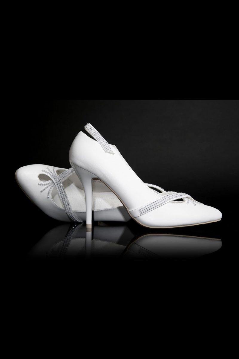 Туфли кожаные с фигурными вырезами