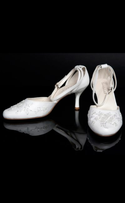свадебные босоножки на каблуке