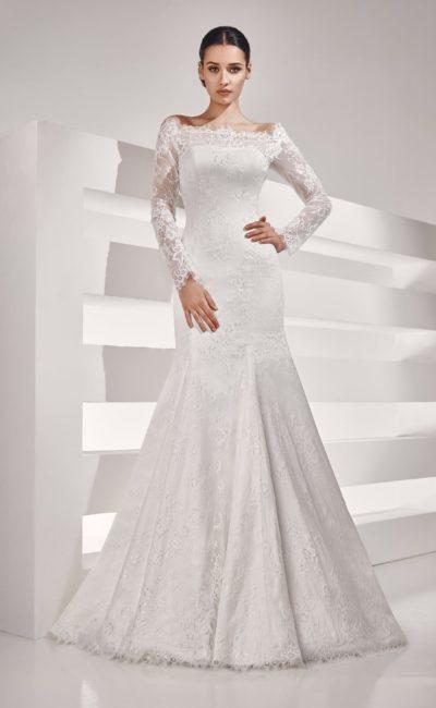 Ажурное свадебное платье «рыбка»