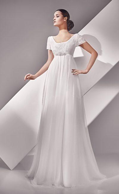 Ампирное свадебное платье