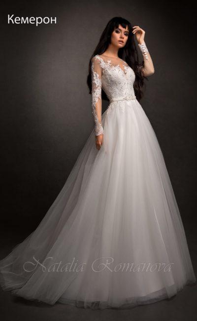 Нежное и роскошное свадебное платье