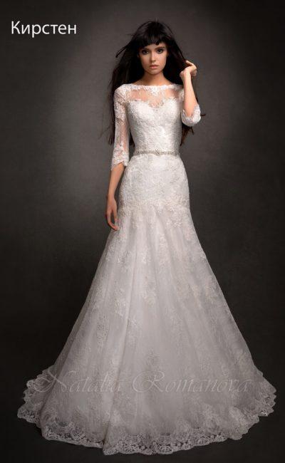 свадебное платье с элегантными рукавами