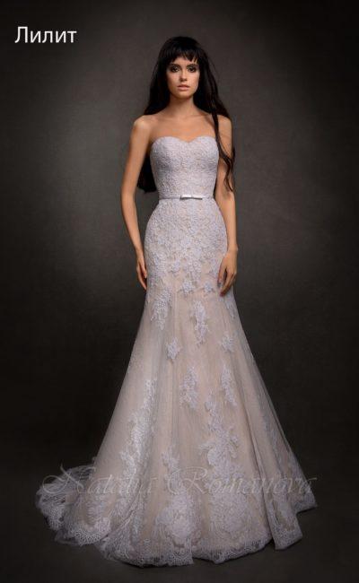Открытое свадебное платье «рыбка»