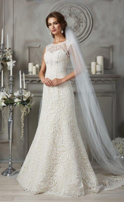 Стильное свадебное платье «русалка»
