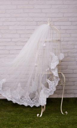 свадебная фата с кружевом