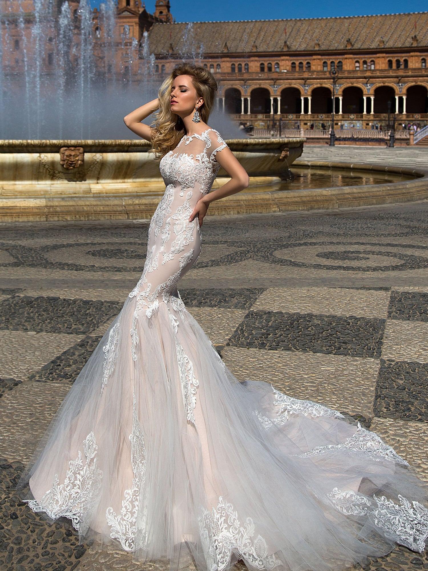 70e0b19fe75b659 Свадебное платье Оксана Муха Adalyn ▷ Свадебный Торговый Центр Вега ...