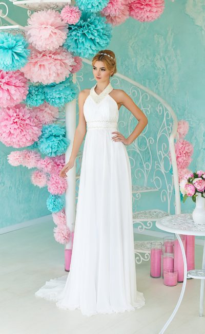 Греческое недорогое свадебное платье
