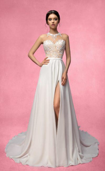 Платье с кружевным корсетом