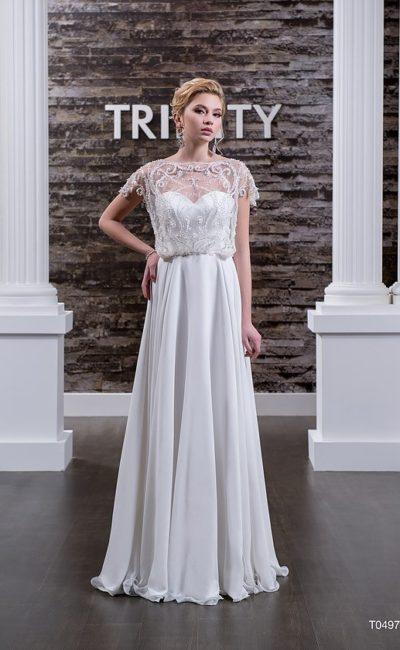 Прямое свадебное платье недорогое