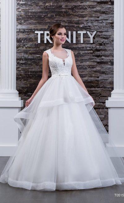 Пышное недорогое свадебное платье