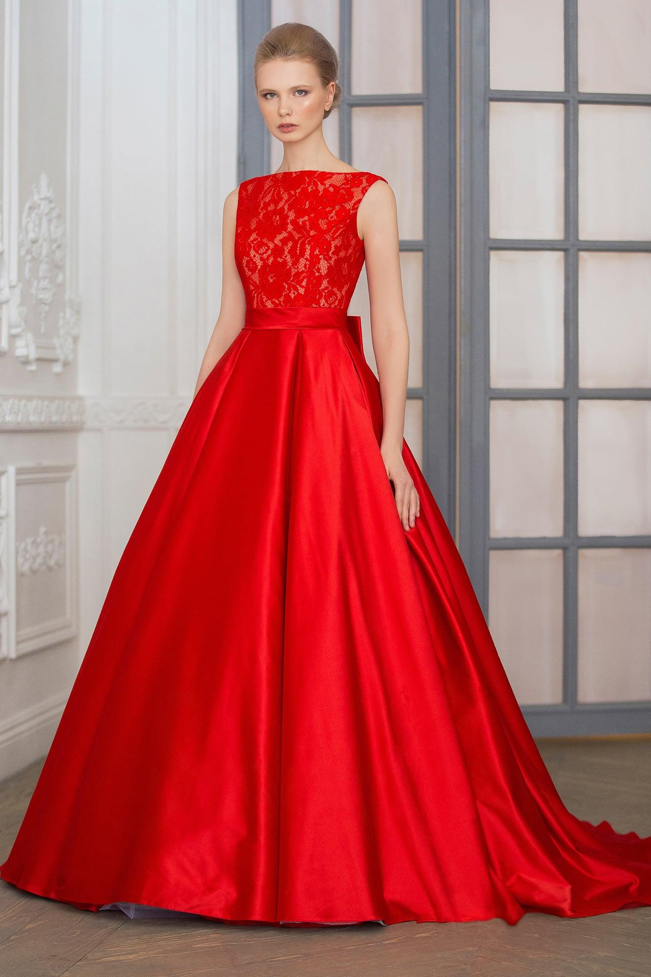 Красный цвет платья свадебный