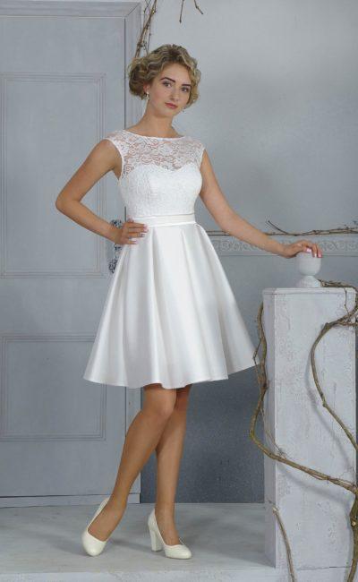 Короткое недорогое свадебное платье
