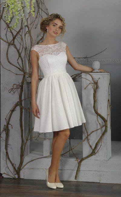 Короткое свадебное недорогое платье