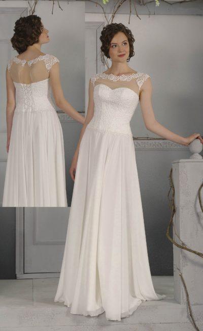 Прямое недорогое свадебное платье