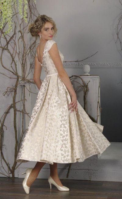 Недорогое свадебное платье миди