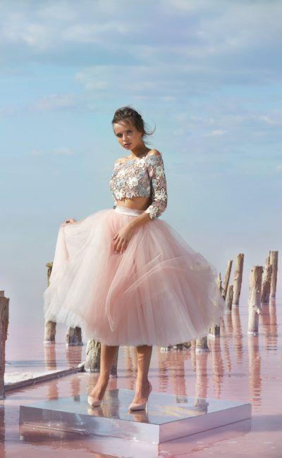 Раздельное короткое платье