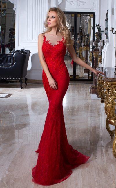 Красное платье «русалка»