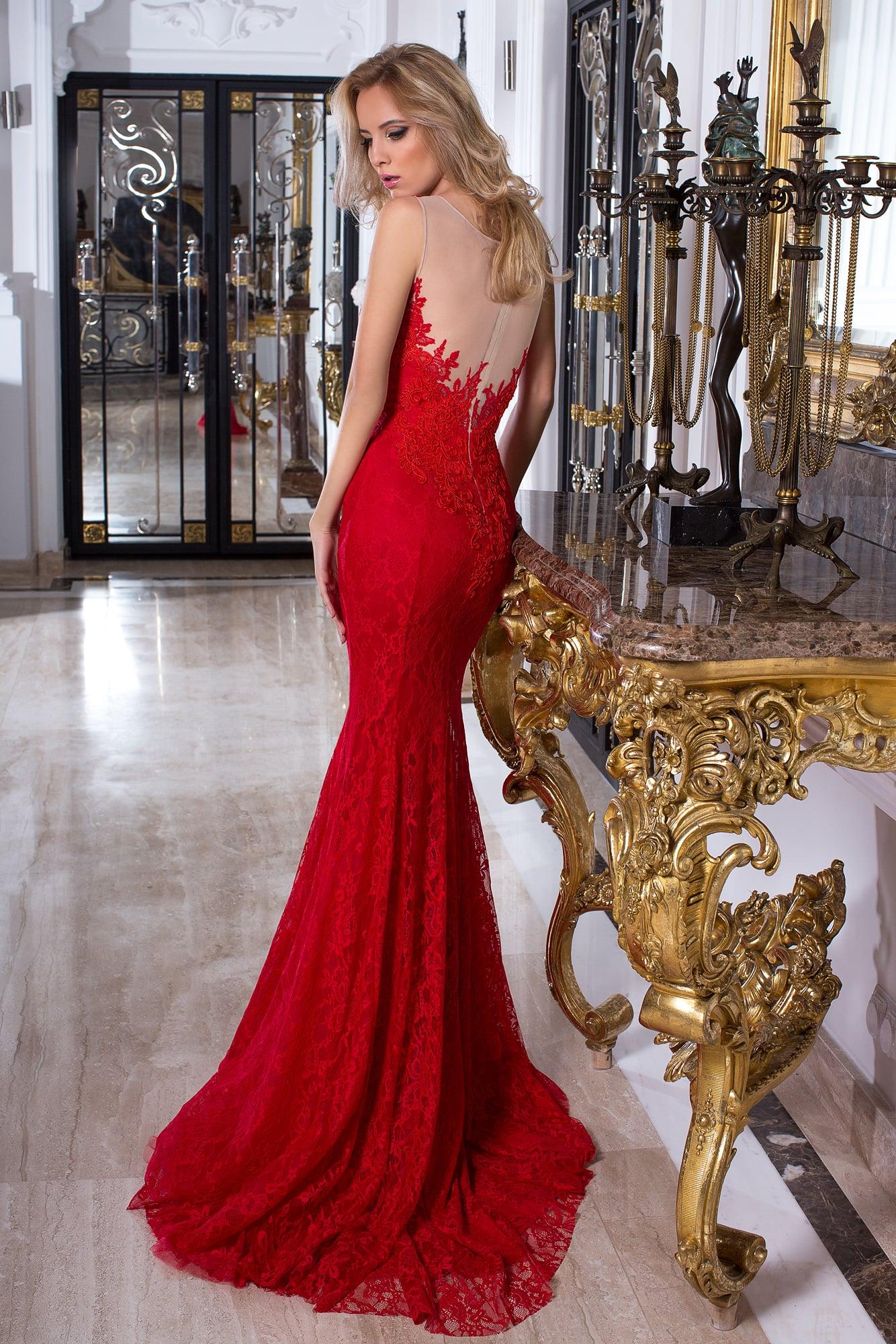 c01163650e1 Красное платье «русалка» Oksana Mukha 16-1023 ▷ Свадебный Торговый ...
