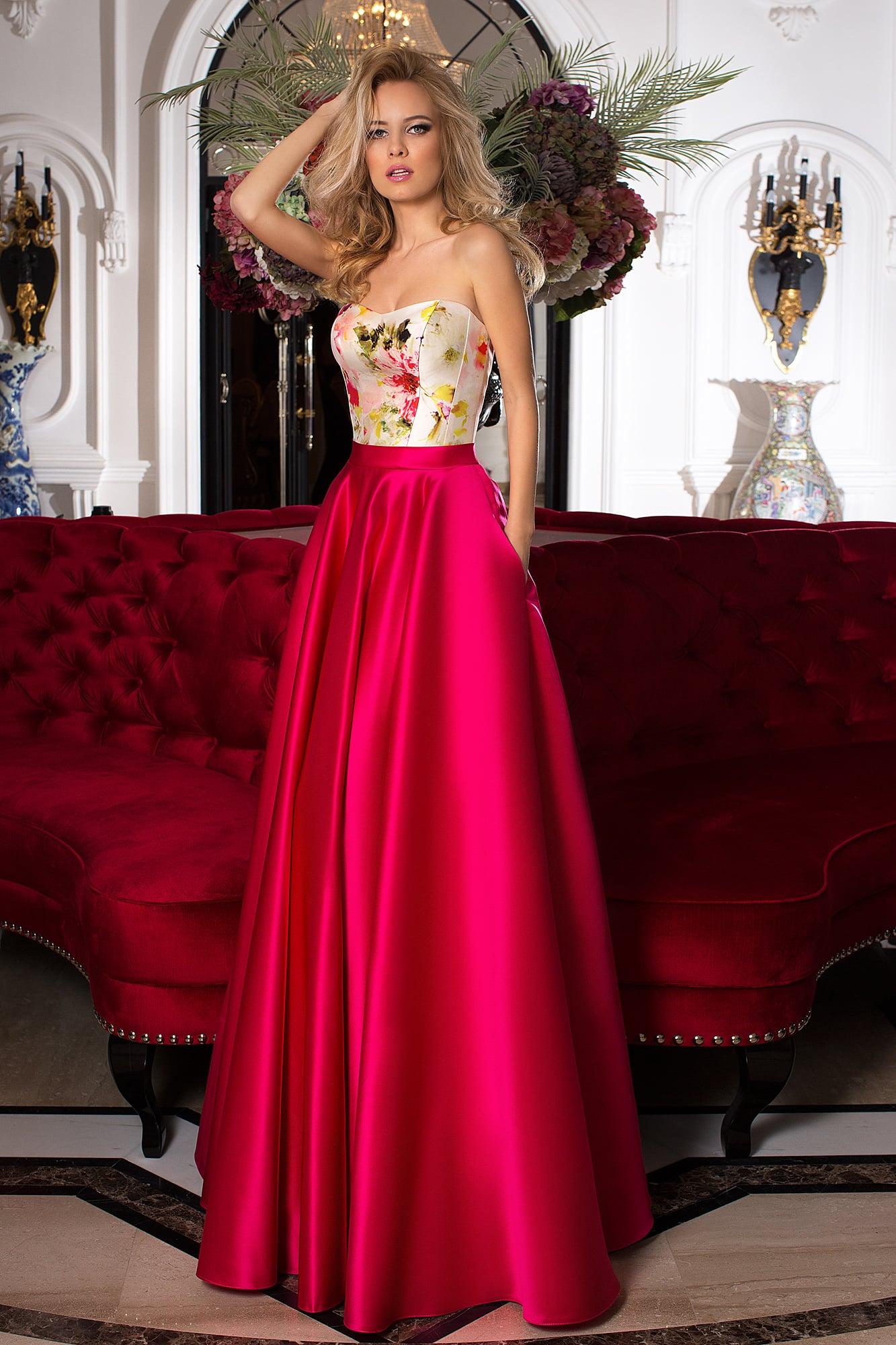 3b14f22d0c4 Вечернее платье Oksana Mukha 16-1074 ▷ Свадебный Торговый Центр ...