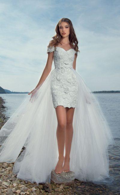 Пляжное свадебное платье-трансформер