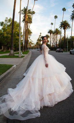 Бальное свадебное платье