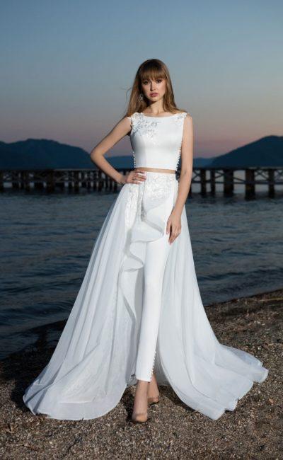 Свадебный женский костюм crop top