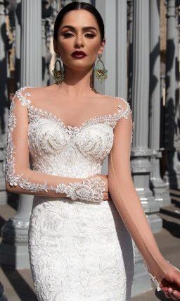 Соблазнительное свадебное платье-трансформер с очаровательной пышной верхней юбкой.