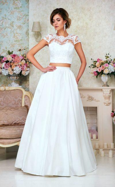 Раздельное недорогое свадебное платье