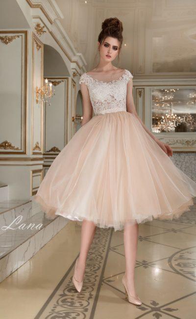 Нежное свадебное короткое платье