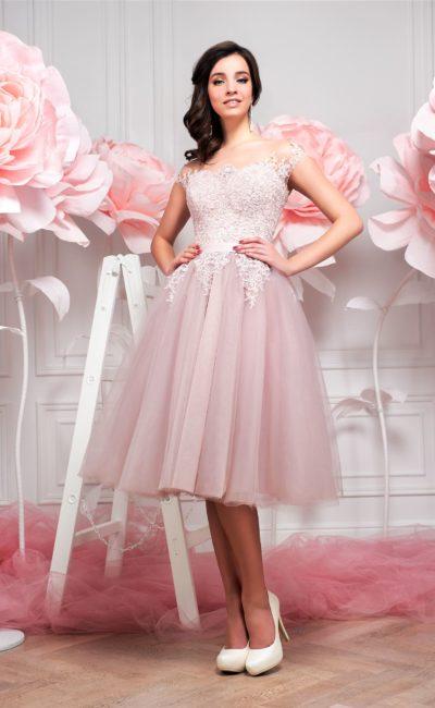 Короткое свадебное платье со скидкой