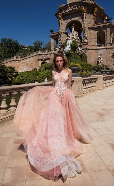 9c8006977a9 Бежевое платье с рукавом Pollardi Estadio ▷ Свадебный Торговый ...