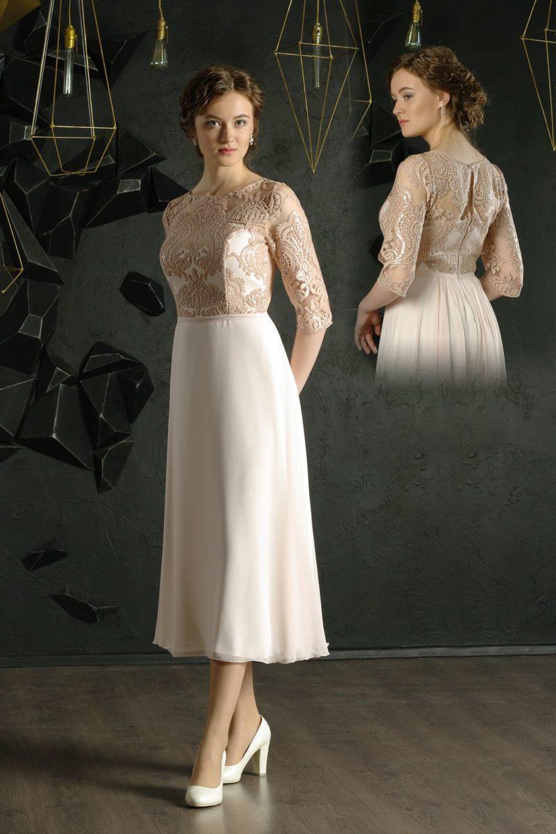 Вечернее платье белого цвета